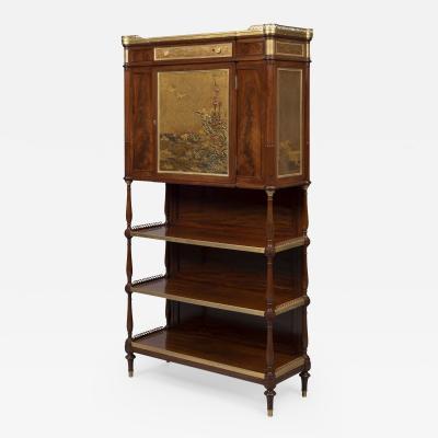 Escalier de Cristal A Louis XVI Style Lacquer Mounted Cabinet Serre Bijoux
