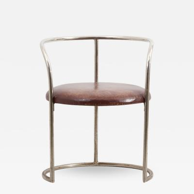 Eskil Sundahl Steel Tube and Leather Chair by Eskil Sundahl Sweden 1930s