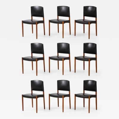 Eskild Pontoppidan Set of Nine Dining Chairs by Eskild Pontoppidan for Ludvig Pontoppidan