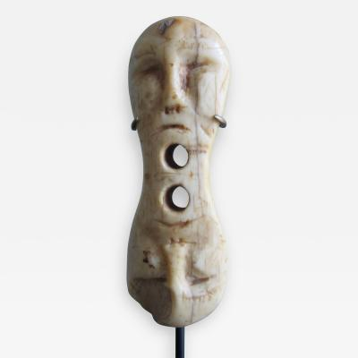Eskimo Bone Toggle with Mask Like Faces