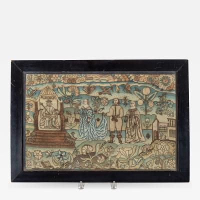 Esther Ahasuerus Needlework Picture
