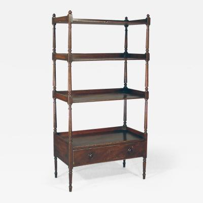 Etagere with original faux mahogany grain painting