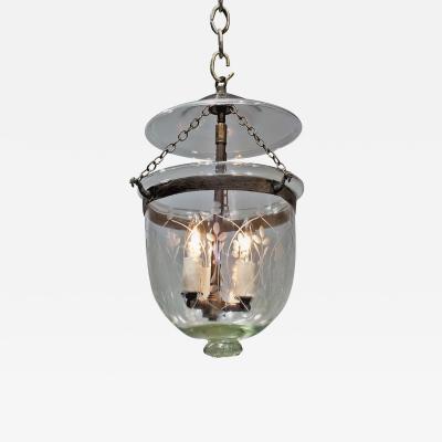 Etched Bell Jar Lantern Circa 1850 England