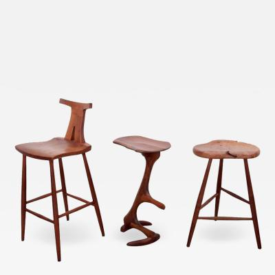 Ethan Perry Set of Three American Studio Bar Stools Ethan Perry Michael Elkan