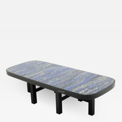 Etienne Allemeersch Coffee table in resin and lapis lazuli by E Allemeersch