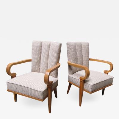 Etienne Henri Martin Pair of 1940s armchairs by Etienne Henri Martin