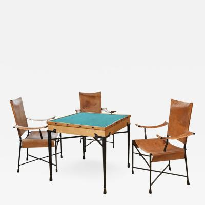 Etienne Kohlmann Etienne Kohlmann Exceptional Game Table and Chairs