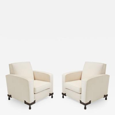 Etienne Kohlmann Pair of Club Chairs