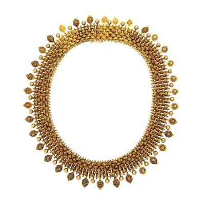 Etruscan Revival Antique Gold Necklace