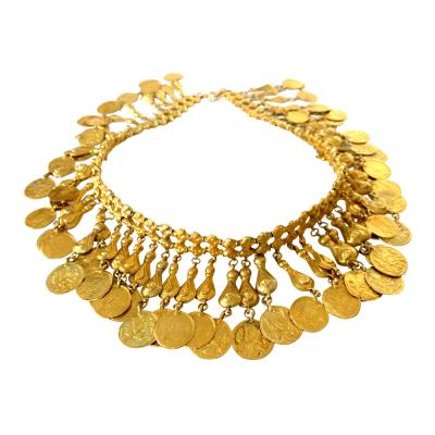 Etruscan Revival Classical Gold Necklace 14K