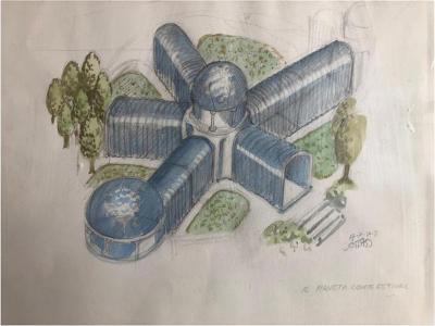 Ettore Sottsass 1972 Original Drawing by Ettore Sottsass