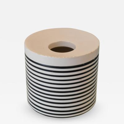 Ettore Sottsass Black and white vase by Ettore Sottsass for Il Sestante