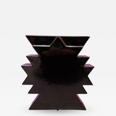 Ettore Sottsass Ceramic vase Y28 by Ettore Sottsass 1980s