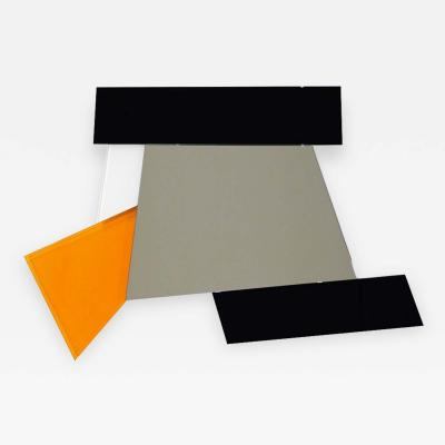 Ettore Sottsass Ettore Sottsass 2007 Geometric Prism Black White Orange Mirror for Glas Italia
