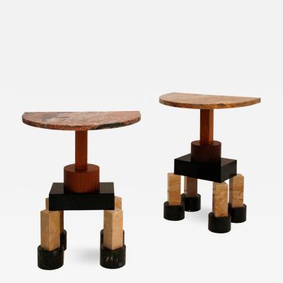 Ettore Sottsass Ettore Sottsass Contemporary Modern Demistella Italian Pair of Consoles