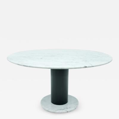 Ettore Sottsass Ettore Sottsass White Marble Pedestal Dining Table 1965