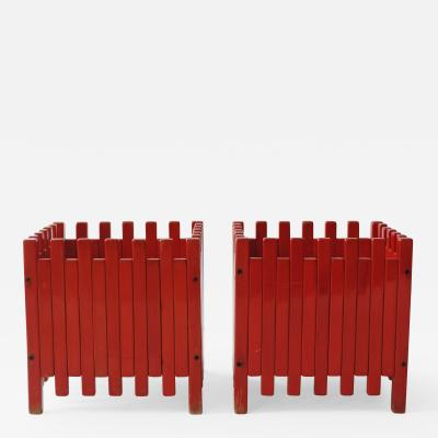 Ettore Sottsass Ettore Sottsass pair of planters for Poltronova Italy 1961