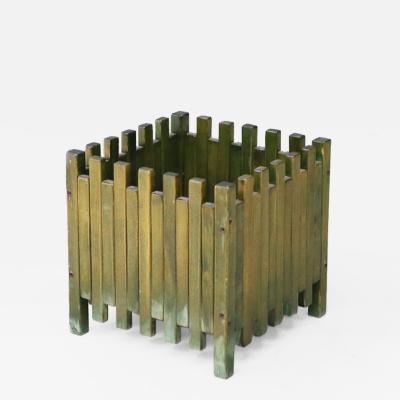 Ettore Sottsass Ettore Sottsass planter for Poltronova in green wood 1961