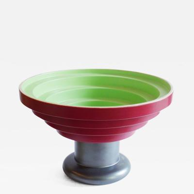 Ettore Sottsass Large Pillared Ceramic Bowl Centerpiece by Ettore Sottsass