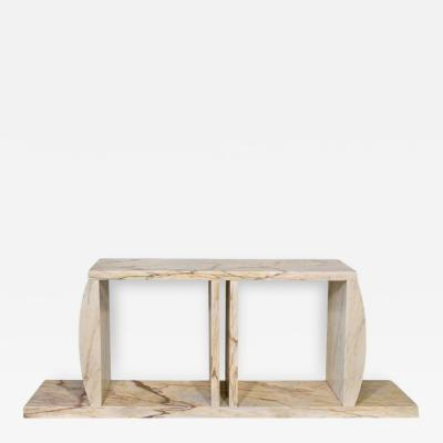 Ettore Sottsass Marble Console Table Made by Ettore Sottsass Unique Piece Circa 1984