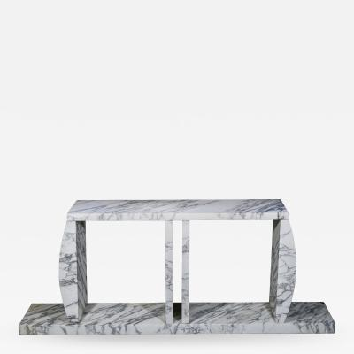 Ettore Sottsass Marble Console Table Made by Ettore Sottsass circa 1980 Italy