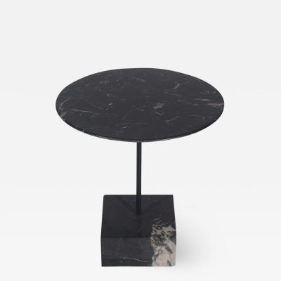 Ettore Sottsass Midcentury Italian Postmodern Black Marble Side Table by Ettore Sottsass