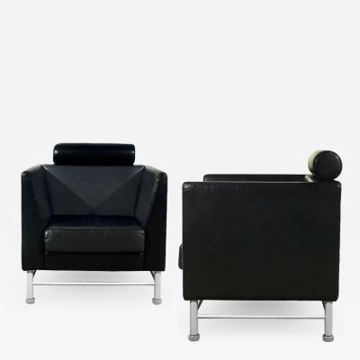 Ettore Sottsass PAIR OF EASTSIDE LOUNGE CHAIRS BY E SOTTSASS FOR KNOLL