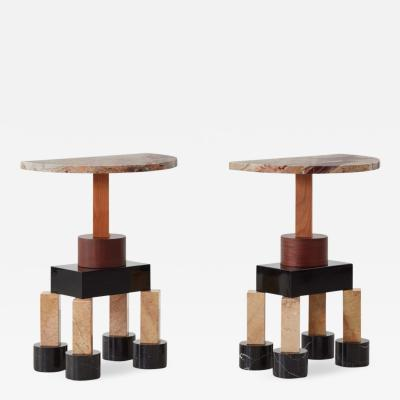 Ettore Sottsass Pair of Demistella consoles by Ettore Sottsass Up Up Italy c 1990