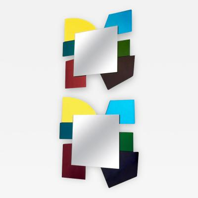 Ettore Sottsass Pair of Mirrors in the Style of Ettore Sottsass 2000s