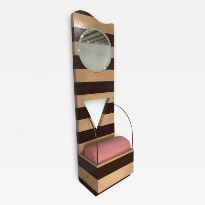 Ettore Sottsass Post Modern Throne or Entry Chair with Mirror