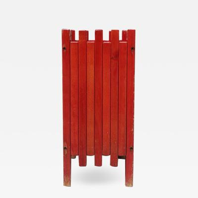 Ettore Sottsass Red umbrella stand by Ettore Sottsass for Poltronova 1961