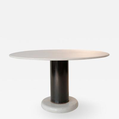 Ettore Sottsass Round Gueridon Table in White Marble