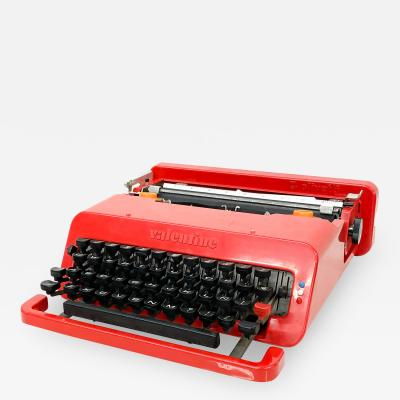 Ettore Sottsass Vintage Olivetti RED Valentine Typewriter by Ettore Sottsass Memphis