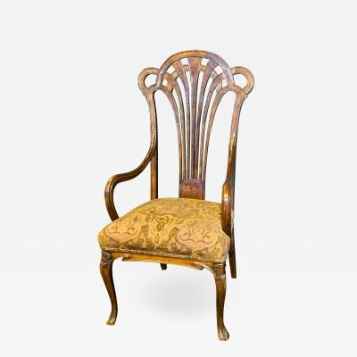 Eug ne Gaillard An Exceptional and Large French Mahogany Art Nouveau Arm Chair Eugene Gaillard
