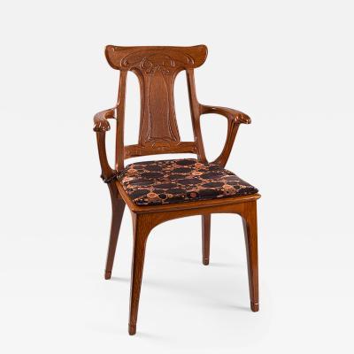 Eug ne Gaillard French Art Nouveau Armchair