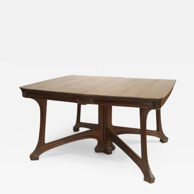Eug ne Gaillard French Art Nouveau Walnut 2 Section Dining Table