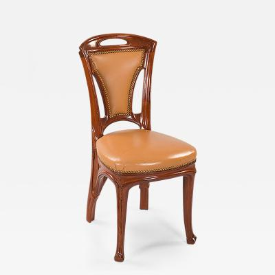 Eug ne Vallin French Art Nouveau Side Chairs