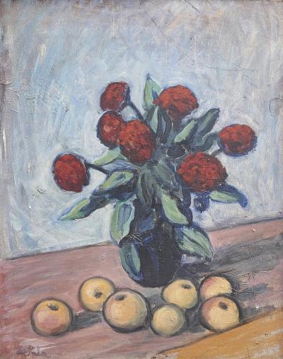 Eug ne de Sala STILL LIFE WITH FLOWERS AND FRUIT