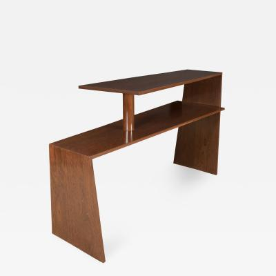 Euge ne Printz Eugene Prinz Modernist Two Tier Console in Palm Wood