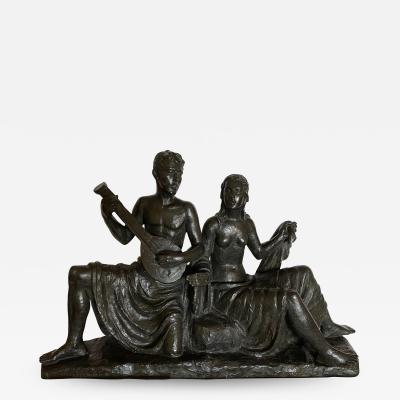 Eugen Mayer Fassold An Art Deco Figural Group of a Singing Couple
