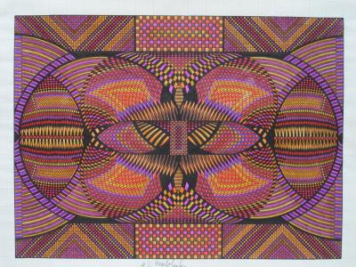 Eugene Andolsek Kaleidoscopic Drawing