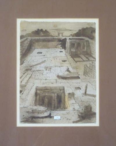 Eugene Berman The Temple of Dendur Painting by Eugene Berman