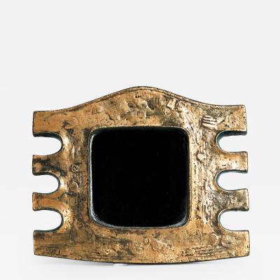 Eugene Fidler Miroir Azteque Glazed Ceramic Mirror
