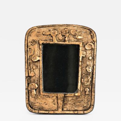Eugene Fidler Miroir Empreintes Glazed Ceramic Mirror