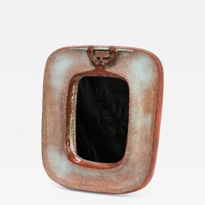 Eugene Fidler Miroir au Personnage Glazed Ceramic Mirror