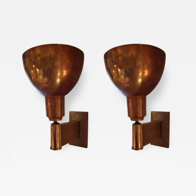 Eugene Printz A Pair of Copper Sconces by Eugene Printz France 1940