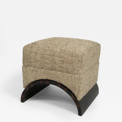 Eugene Printz Art Deco Modernist Foot Stool in the manner of Eug ne Printz