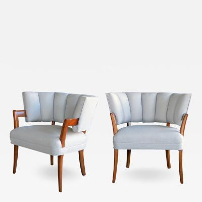 Eugene Schoen A rare pair of American art deco arm chairs by Eugene Schoen