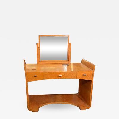 Eugene Schoen Art Deco Vanity Table with Mirror by Eugene Schoen