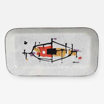 Eugenio Carmi Abstract Enamel Tray Artwork by Artist Eugenio Carmi 1950 ITALY